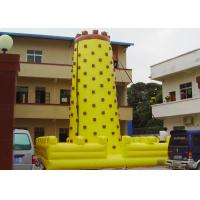 Buy cheap Yellow Tall Inflatable Sports Games / Inflatable Climbing Wall For Fun from wholesalers