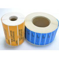 Buy cheap Tamper Evident Security OPEN VOID Security Labels With CMYK Printing from wholesalers