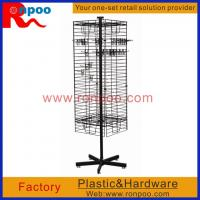 Buy cheap Wire Store Display Racks,Counter Top Spinner Display Rack,Rotating Display Rack with Pegs,Grocery Food Rack from wholesalers