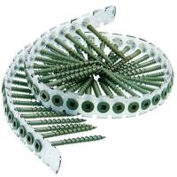 """Collated  Plastic Strip Bugle Head Drywall Screws to Wood Gray Phosphate #  6 x 1-1/4 """""""