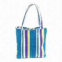 Buy cheap Canvas Beach Bag, Eco-friendly and Durable, Eco-friendly, Comfortable and Fashionable from wholesalers