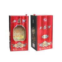 Buy cheap Special Paper Liqueur And Wine Gift Box Cardboard Paper Lid Hinge Base Box product