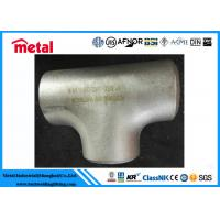 Buy cheap Industrial Alloy Steel Pipe Fittings BW Equal Tee ASTM B366 Alloy B UNS N10001 from wholesalers