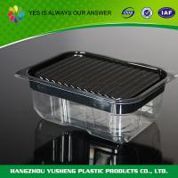 China Black  Disposable Plastic Food Boxes , Take Away Food Boxes For Sushi on sale
