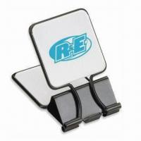 Buy cheap Binder Style Memo Clip with Large Square-shaped Grips and Black Accents from wholesalers