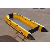 Buy cheap CE fiberglass with pvc tube hypalon rigid inflatable boat from wholesalers