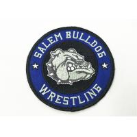 Buy cheap Twill Embroidered Badge Patch Merrow Border Heat Seal With Glue Back from wholesalers