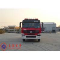 Buy cheap Max Speed 90KM/H Tanker Fire Truck , Heavy Rescue Fire Truck Wheelbase 4600mm product