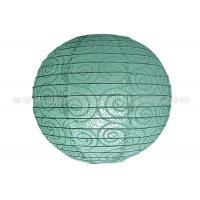 Buy cheap Eyelet Lace Look  Round Paper Lanterns with lights For Party Decoration , Wedding from wholesalers