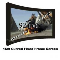 Buy cheap Wonderful Photo 92 Inch Arc Fixed Frame Wall Mount 4k Projection Screens 16:9 Format from wholesalers