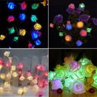 Buy cheap 2m 20 Led Rose Flower Fairy Lights Festival Battery Operated Flower Lights from wholesalers