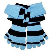 China China wholesale girls knee high socks, 100% cotton striped five toe socks for women on sale