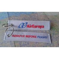 Air Europa Lineas Aereas AEA Remove Before Flight Embroidery Keyring Keychain Manufactures