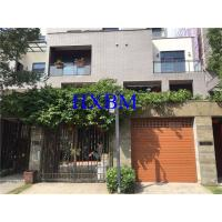 China Remote Control Aluminium Garage Doors Automatic Roll Up With wood color Finishing on sale