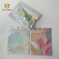 Buy cheap Brightly Laser Cosmetic Packaging Bag  With Clear Front / Back Holographic from wholesalers