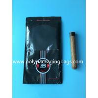 Buy cheap Custom classic black cigar bag general zipper plastic moisturizing bag with 4-6 from wholesalers
