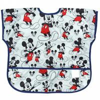 Wholesale Disney Mickey Mouse Junior Bibs , Short Sleeve Bib / Smock For 1-3 Years from china suppliers