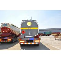 Buy cheap optional color shape with square or round 3 axles  fuel tanker trailer from wholesalers