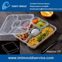 Buy cheap multi-compartment thin wall disposable food container mould, lunch box 5 compartment mold from wholesalers