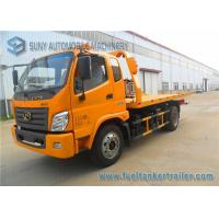 Buy cheap Yellow Forland Times 5T flatbed tow truck 3 Seats 1 Sleeper Left Hand Drive from wholesalers