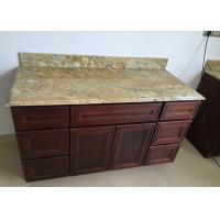 Buy cheap Golden Tropic Prefabricated Granite Vanity Tops Brazilian Material 22 Wide For Pedestal Area from wholesalers