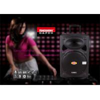 Buy cheap 15 Inch Wooden Portable Trolley Speakers With Wireless Microphone from wholesalers