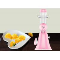 Wholesale Pink Mini Hand Ice Cream Maker Homemade Pure Juicer No Added Preservatives from china suppliers