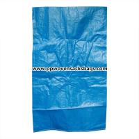 Durable Blue PP Woven Bags for Packing Chemicals / Industrial Polypropylene Sacks