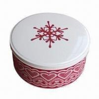 Buy cheap Cookies Box/Biscuit Tin/Metal Brownie Box/Tin Cookies Bucket for Occasion and Holiday, Food Safe from wholesalers