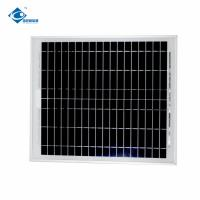 Buy cheap 18V 18W cheap Poly Silicon solar photovoltaic panels ZW-18W-18V Glass Laminated Solar Panel from wholesalers