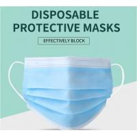 Wholesale Manufacturer CE/ FDA Medical 3Ply Earloop Mouth Mask 3 Layer Disposable 3 ply Medical Face Mask from china suppliers