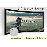 Buy cheap Ultra Big 200-inch Curved Fixed Frame DIY Screen , Acoustically Transparent Fabric With CE from wholesalers