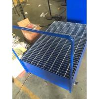 Buy cheap Galvanized Steel Pallet Spill Containment Drum Platform For Multi Drums Storing trolley from wholesalers