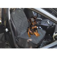 Buy cheap Travel Front Personalized Pet Car Seat Covers Padded Oxford PVC Coating from wholesalers