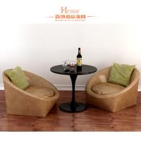 Buy cheap Nordic Minimalist Modern Hotel Living Room Furniture / Single Leather Sofa from wholesalers