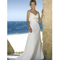 Buy cheap Beach wedding gown features in satin and drapes in a modified silhouette from wholesalers