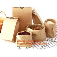 Buy cheap 70g food grade brown kraft paper bag with customized logo printing, Pinch Bottom Paper Bag, Greaseproof Paper Bag with L from wholesalers