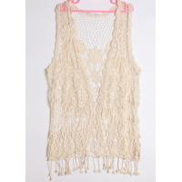 Buy cheap Cotton crochet waistcoat with tassels hollow out top for Spring from wholesalers