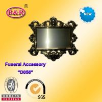 Wholesale Zamak frame D057 Coffin Fitting gold color plate frame for funeral from china suppliers
