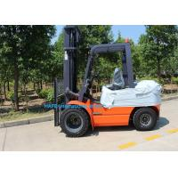 Buy cheap 3 Stage 6m Mast Diesel Forklift Truck With Fork Posioner / Side Shift 1200 Long Fork Type from wholesalers