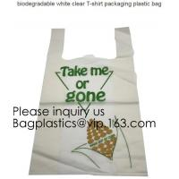 Buy cheap BIO Biodegradable Pre-Printed Thank You Retail Bags,Green Plastic T-shirt Shopping Bags,Compostable Biodegradeable, Extr from wholesalers