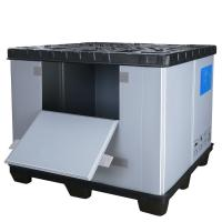 Buy cheap Heavy Duty HDPE Large Solid Stackable Plastic Pallet Box for Auto Parts from wholesalers