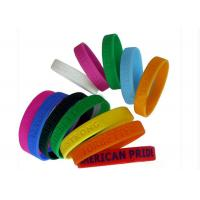 Buy cheap Flexible Sports Customizable Silicone Bracelets Promotion Popular from wholesalers