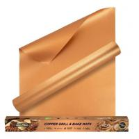 Buy cheap Fireproof High Temperature Tape Non - stick Charcoal PTFE BBQ Grill Mat in Copper Color from wholesalers