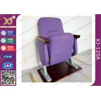 Buy cheap Fixed Floor Smaller Church Seats , Auditorium Theater Seating And Tables For Cinema Hall from wholesalers