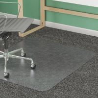 China Rectangle Washable Studded Chair Mat Non Slip / Clear Office Floor Mats on sale