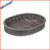 Buy cheap PP rattan oval bread basket from wholesalers