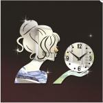 Buy cheap Beautiful Fairy Wall Clock 3D DIY Frameless Sticker Adhesive Wall Clock Living Room Decor from wholesalers