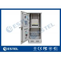 Energy Saving Standard   Theft Proof  Outdoor Telecom Cabinet With Air Conditioner, Rectifier, PDU / Power Enclosure Manufactures