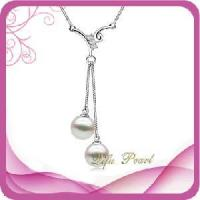 Buy cheap 18k Gold Neckalce with Akoya Pearl and Diamonds (NA0046) from wholesalers